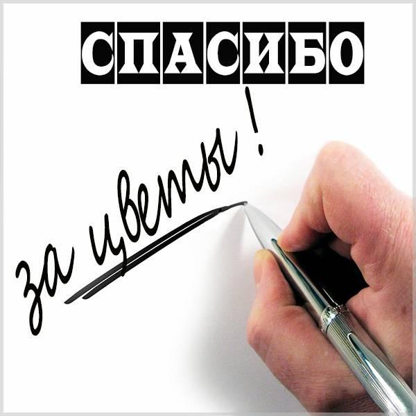 Картинка спасибо за цветы мужчине - скачать бесплатно на otkrytkivsem.ru