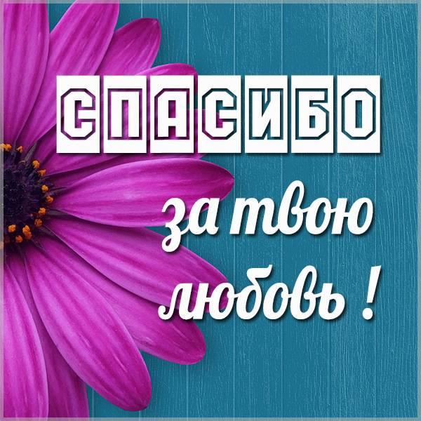 Картинка спасибо за твою любовь - скачать бесплатно на otkrytkivsem.ru