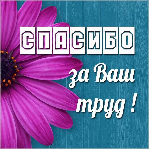 Картинка спасибо за ваш труд - скачать бесплатно на otkrytkivsem.ru