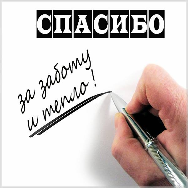 Картинка спасибо за заботу и тепло мужчине - скачать бесплатно на otkrytkivsem.ru