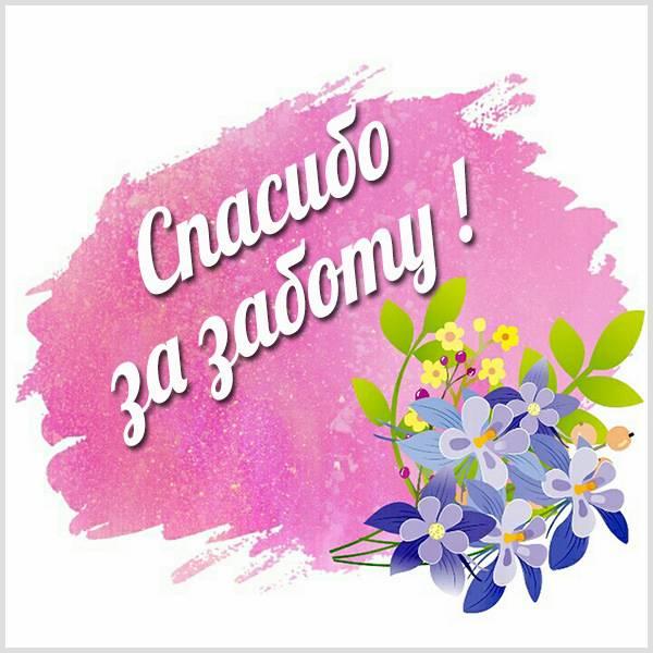 Картинка спасибо за заботу с надписью - скачать бесплатно на otkrytkivsem.ru
