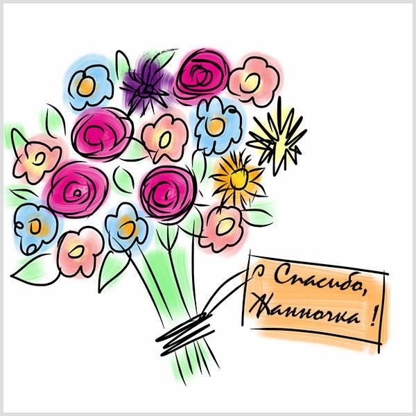 Картинка спасибо Жанночка - скачать бесплатно на otkrytkivsem.ru