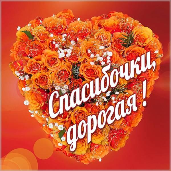 Картинка спасибочки дорогая - скачать бесплатно на otkrytkivsem.ru