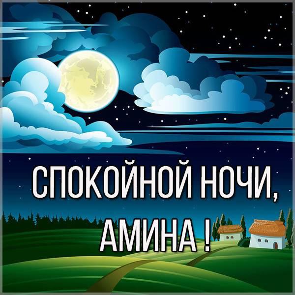 Картинка спокойной ночи Амина - скачать бесплатно на otkrytkivsem.ru