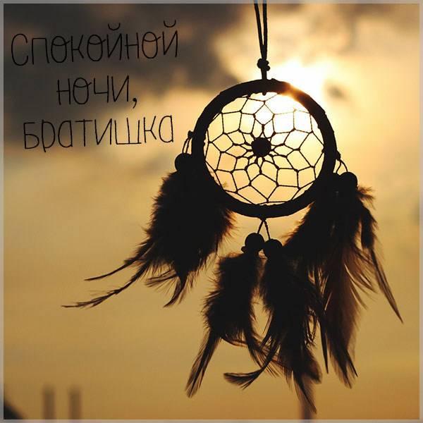 Картинка спокойной ночи братишка - скачать бесплатно на otkrytkivsem.ru