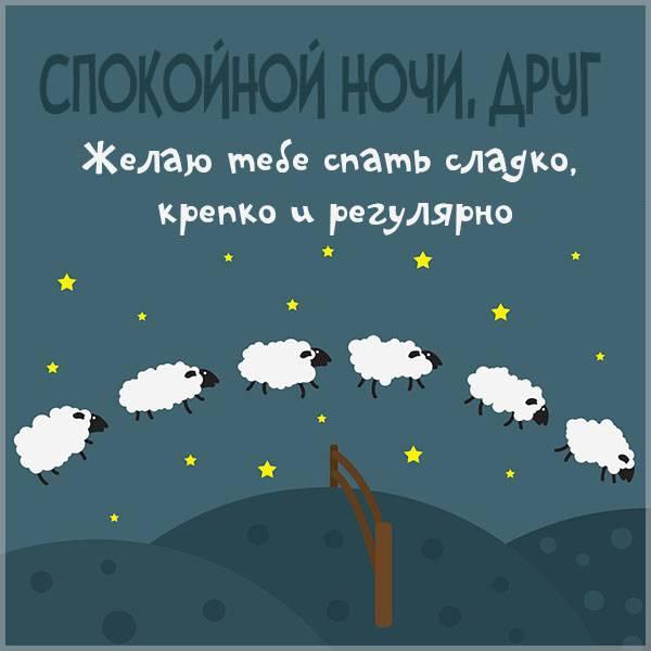 Картинка спокойной ночи друг прикольная - скачать бесплатно на otkrytkivsem.ru