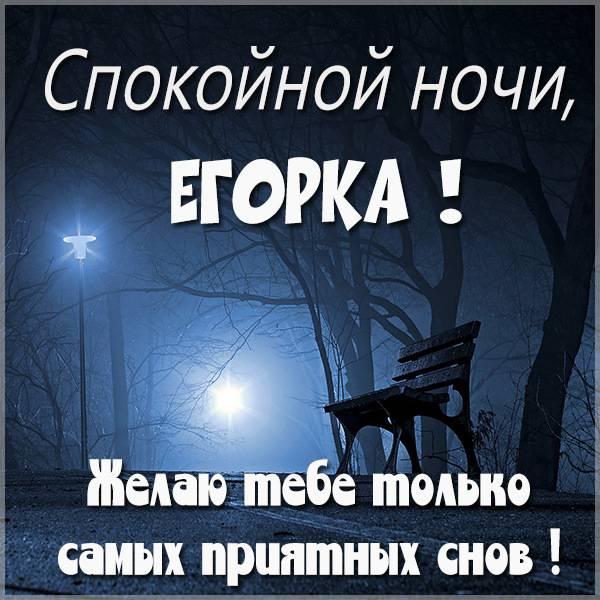 Картинка спокойной ночи Егорка - скачать бесплатно на otkrytkivsem.ru