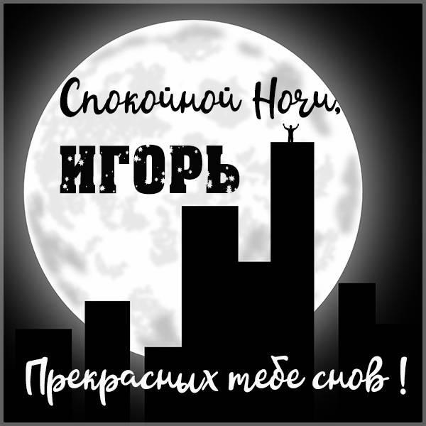 Картинка спокойной ночи Игорь - скачать бесплатно на otkrytkivsem.ru