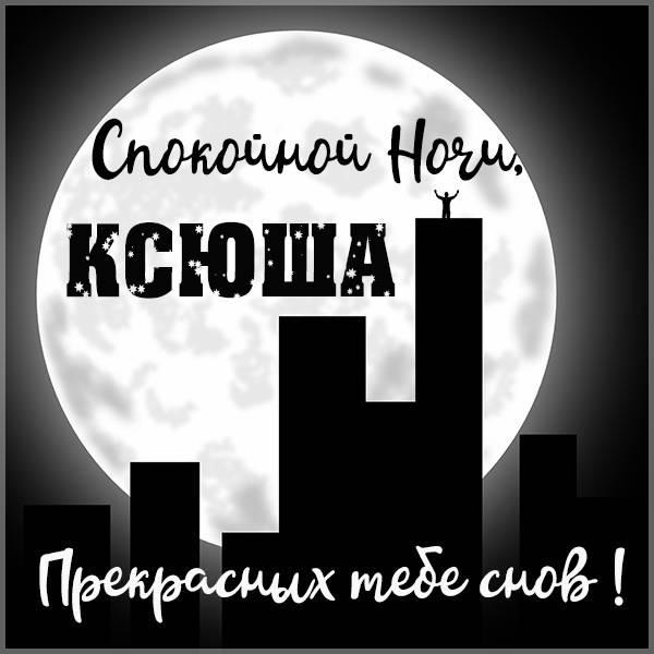 Картинка спокойной ночи Ксюша - скачать бесплатно на otkrytkivsem.ru