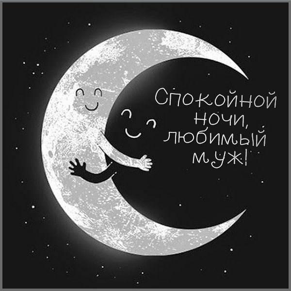 Картинка спокойной ночи любимому мужу - скачать бесплатно на otkrytkivsem.ru
