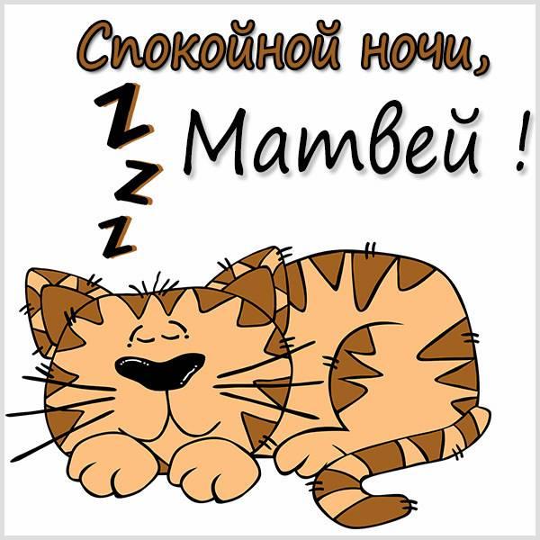 Картинка спокойной ночи Матвей - скачать бесплатно на otkrytkivsem.ru
