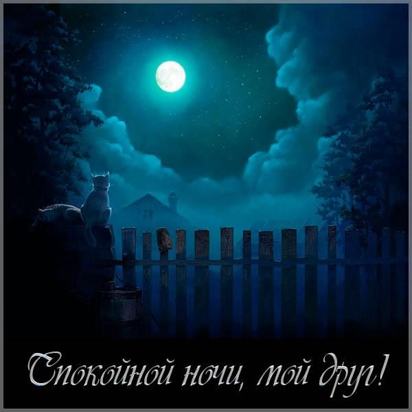 Картинка спокойной ночи мой друг красивая - скачать бесплатно на otkrytkivsem.ru
