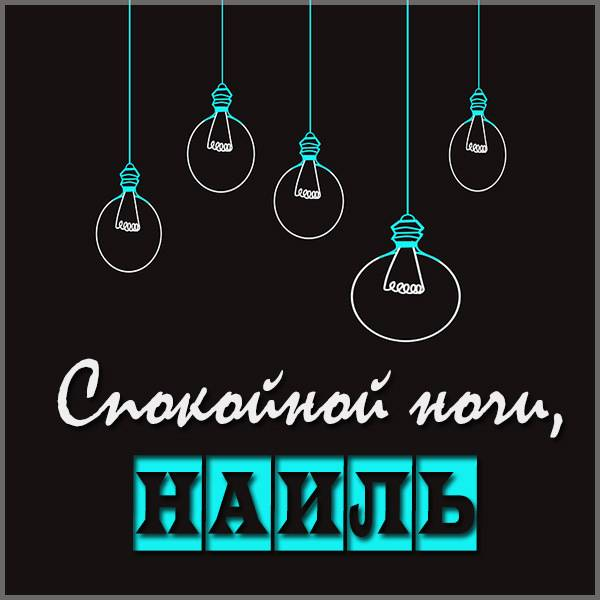 Картинка спокойной ночи Наиль - скачать бесплатно на otkrytkivsem.ru