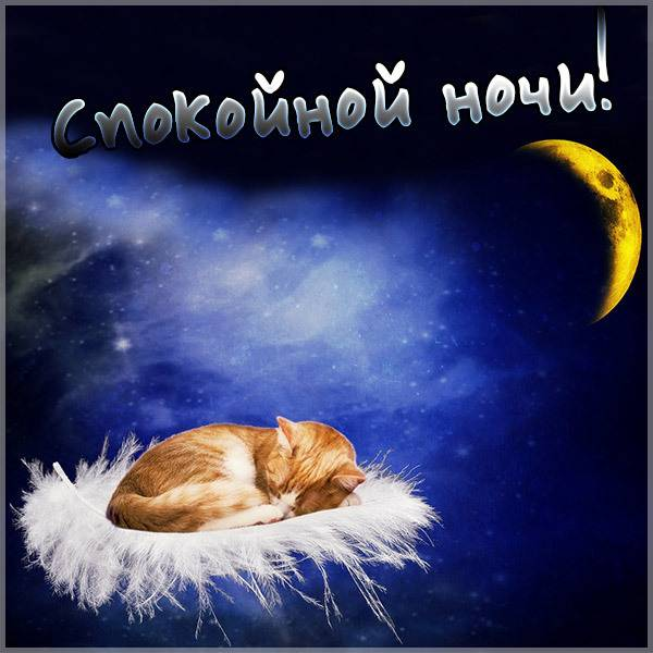 Картинка спокойной ночи отправить - скачать бесплатно на otkrytkivsem.ru
