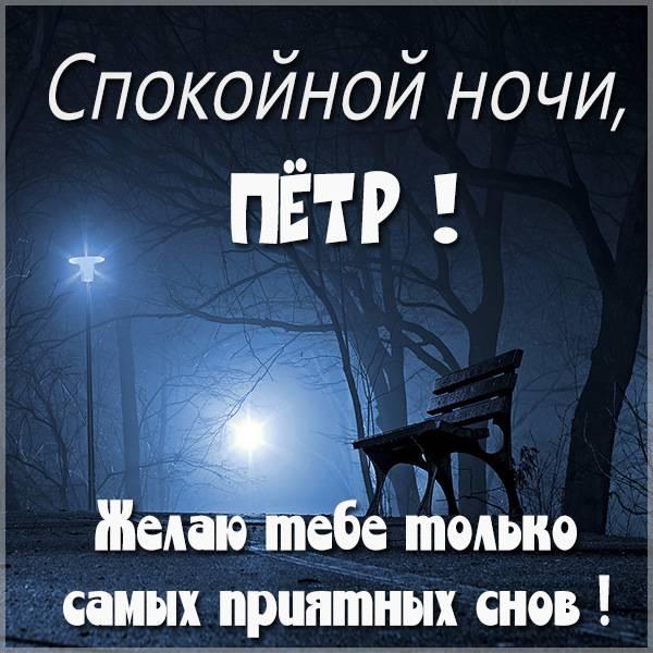 Картинка спокойной ночи Петр - скачать бесплатно на otkrytkivsem.ru