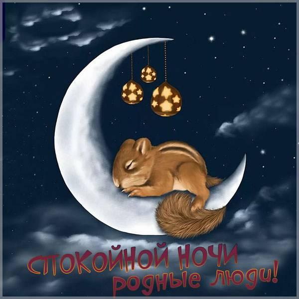 Картинка спокойной ночи родные люди - скачать бесплатно на otkrytkivsem.ru
