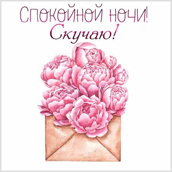 Картинка спокойной ночи скучаю красивая - скачать бесплатно на otkrytkivsem.ru