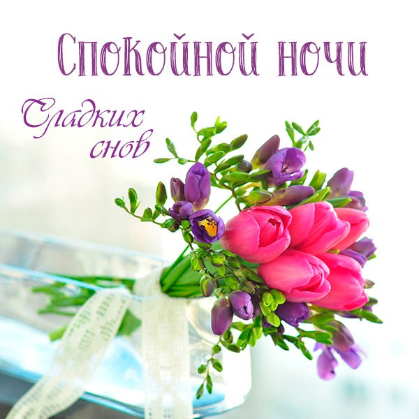 Картинка спокойной ночи сладких снов женщине красивая - скачать бесплатно на otkrytkivsem.ru