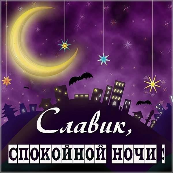 Картинка спокойной ночи Славик - скачать бесплатно на otkrytkivsem.ru