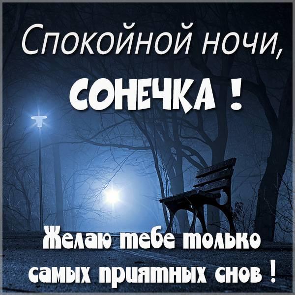 Картинка спокойной ночи Сонечка - скачать бесплатно на otkrytkivsem.ru