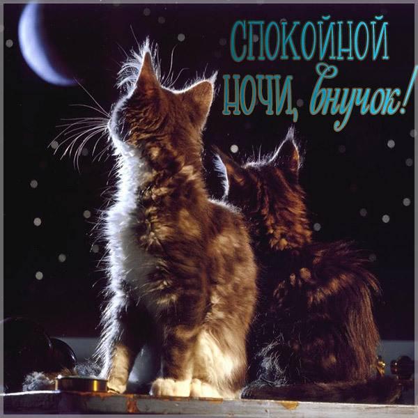 Картинка спокойной ночи внучок - скачать бесплатно на otkrytkivsem.ru