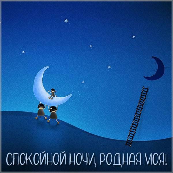 Картинка спокойной ночи жене прикольная - скачать бесплатно на otkrytkivsem.ru