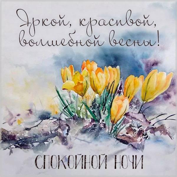 Картинка спокойной весенней ночи красивая - скачать бесплатно на otkrytkivsem.ru