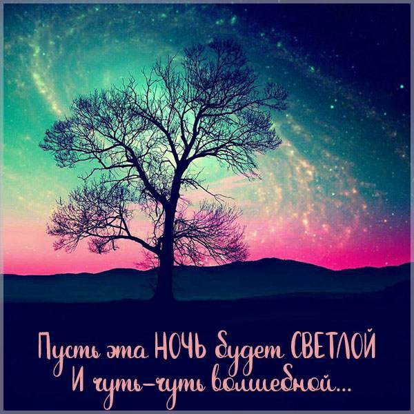 Картинка светлой ночи с надписью - скачать бесплатно на otkrytkivsem.ru