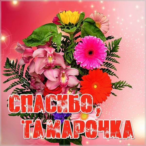 Картинка Тамарочка спасибо - скачать бесплатно на otkrytkivsem.ru