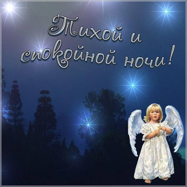 Картинка тихой и спокойной ночи - скачать бесплатно на otkrytkivsem.ru