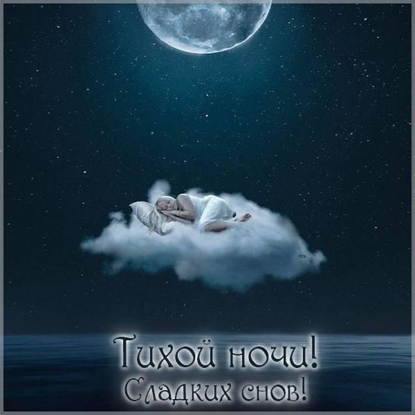 Картинка тихой ночи сладких снов - скачать бесплатно на otkrytkivsem.ru