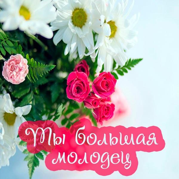 Картинка ты большая молодец - скачать бесплатно на otkrytkivsem.ru