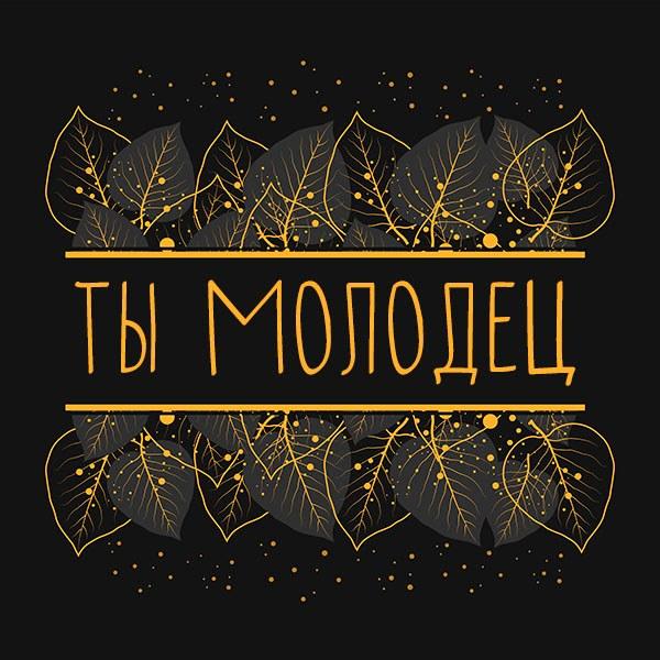 Картинка ты молодец мужчине - скачать бесплатно на otkrytkivsem.ru