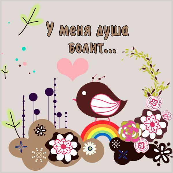 Картинка у меня душа болит - скачать бесплатно на otkrytkivsem.ru