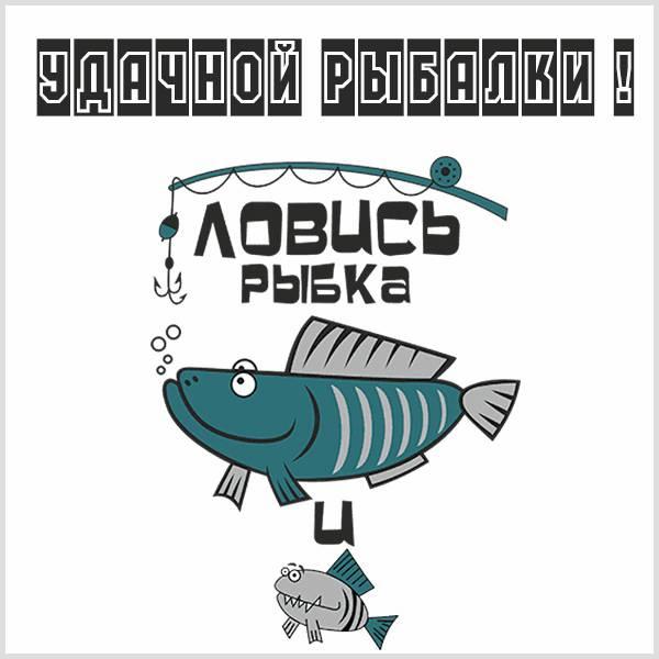 Картинка удачной рыбалки прикольная с надписью - скачать бесплатно на otkrytkivsem.ru