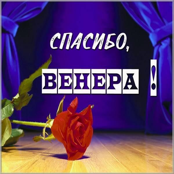 Картинка Венера спасибо - скачать бесплатно на otkrytkivsem.ru