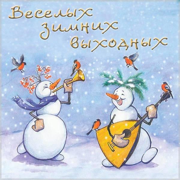 Картинка веселых зимних выходных прикольная - скачать бесплатно на otkrytkivsem.ru