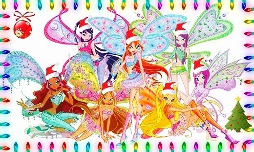 Картинка Винкс новый год - скачать бесплатно на otkrytkivsem.ru