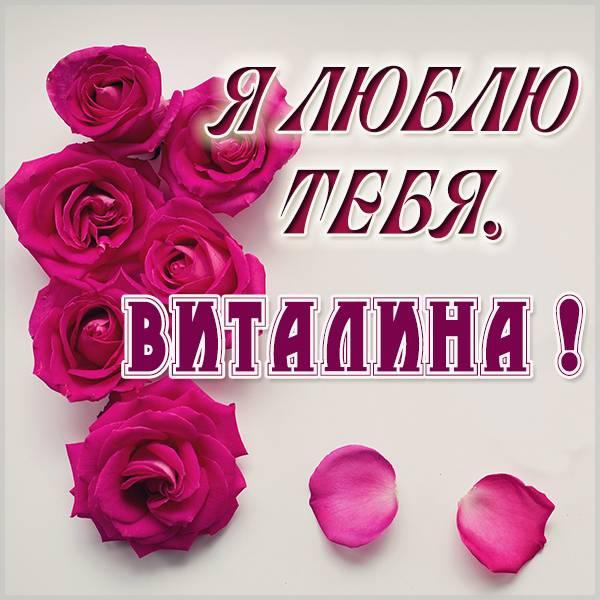 Картинка Виталина я тебя люблю - скачать бесплатно на otkrytkivsem.ru