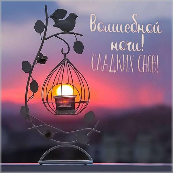 Картинка волшебной ночи сладких снов - скачать бесплатно на otkrytkivsem.ru