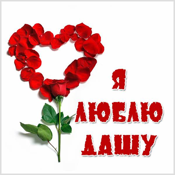 Картинка я люблю Дашу - скачать бесплатно на otkrytkivsem.ru
