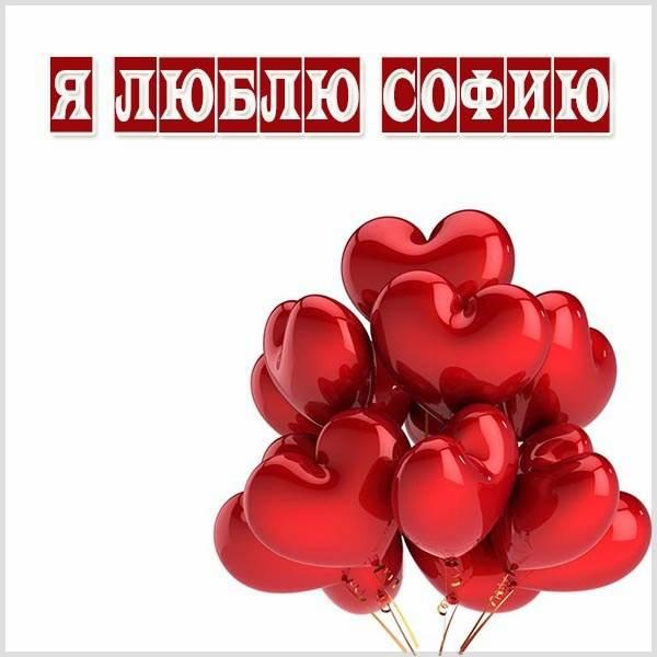 Картинка я люблю Софию - скачать бесплатно на otkrytkivsem.ru