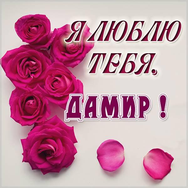 Картинка я люблю тебя Дамир - скачать бесплатно на otkrytkivsem.ru