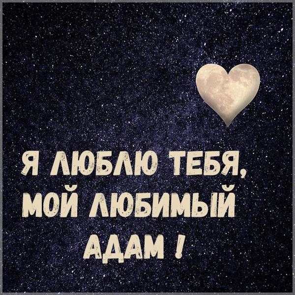 Картинка я люблю тебя любимый Адам - скачать бесплатно на otkrytkivsem.ru