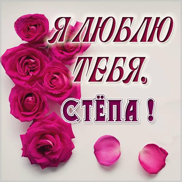 Картинка я люблю тебя Степа - скачать бесплатно на otkrytkivsem.ru
