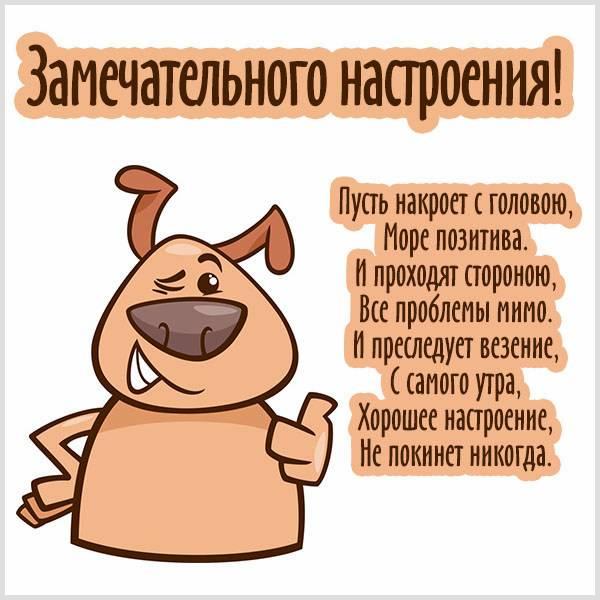 Картинка замечательного настроения с надписью - скачать бесплатно на otkrytkivsem.ru