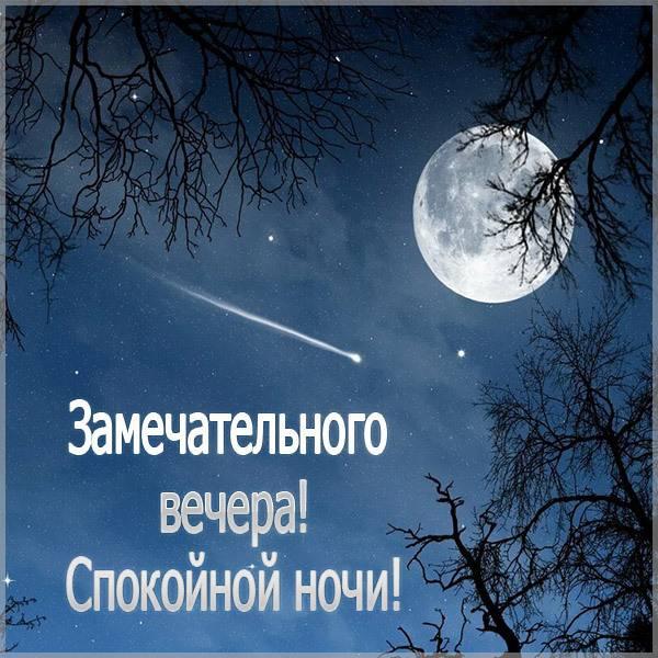 Картинка замечательного вечера и спокойной ночи - скачать бесплатно на otkrytkivsem.ru