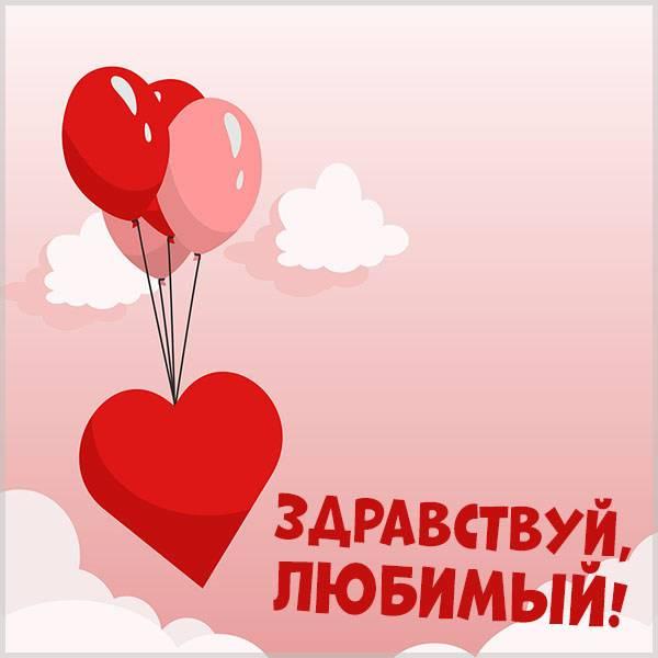 Картинка здравствуй любимый - скачать бесплатно на otkrytkivsem.ru