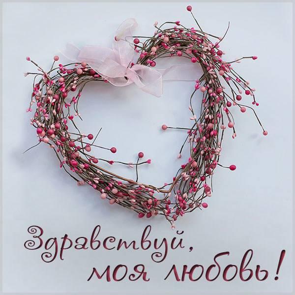 Картинка здравствуй моя любовь - скачать бесплатно на otkrytkivsem.ru