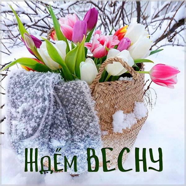 Картинка ждем весну красивая - скачать бесплатно на otkrytkivsem.ru